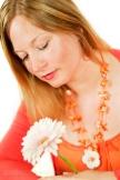 Orange Flower Goddess Pic